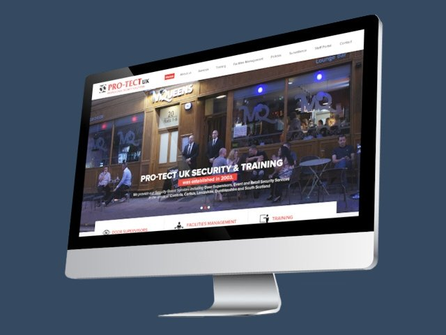 Responsive web design for Pro-Tect UK Security & Training
