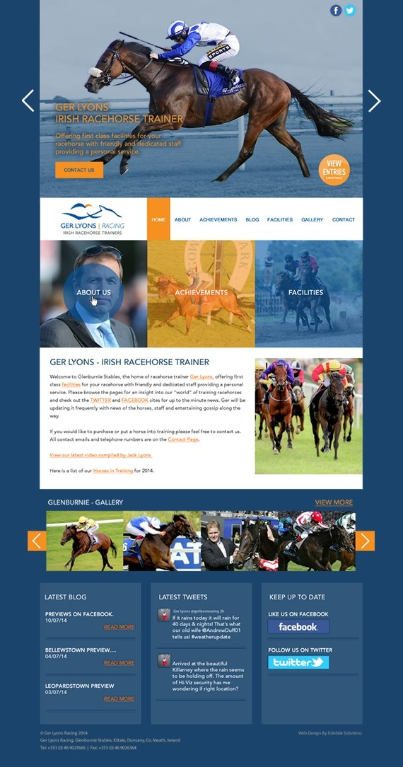 ger lyons racehorse trainer web design 2