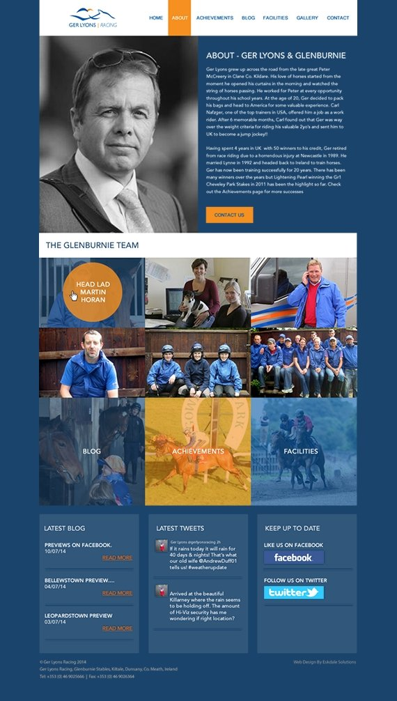 ger lyons racehorse trainer web design 3