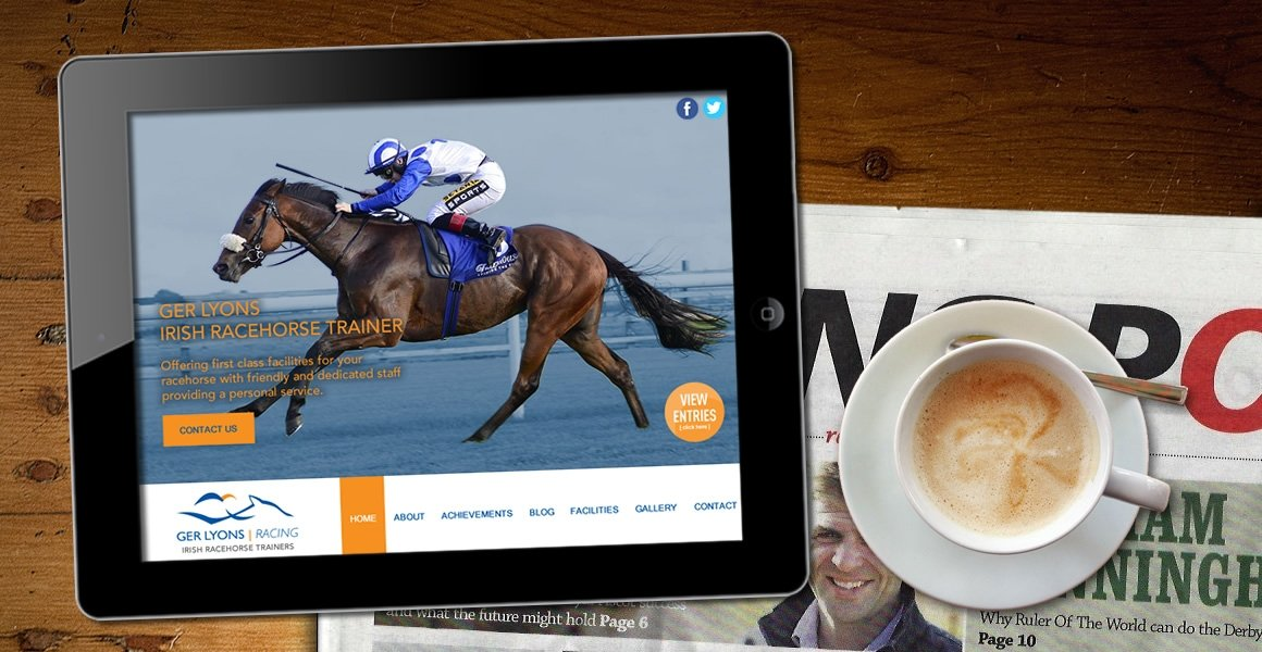 ger lyons racehorse trainer web design