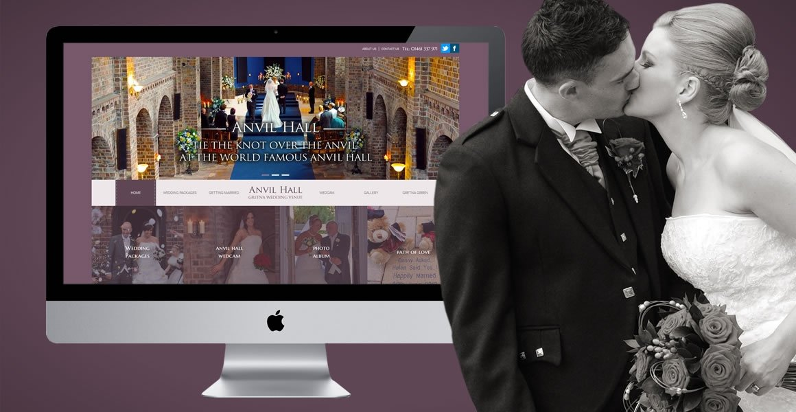 anvil hall gretna web design header