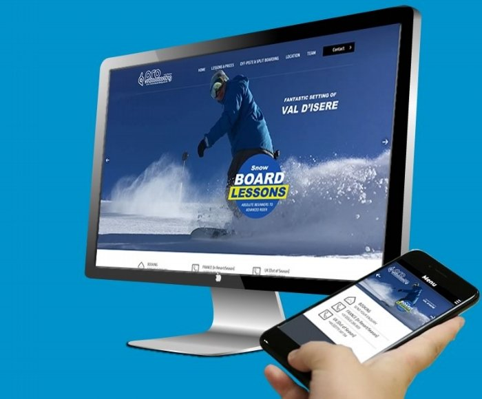 New Web Design for Pro Snowboarding